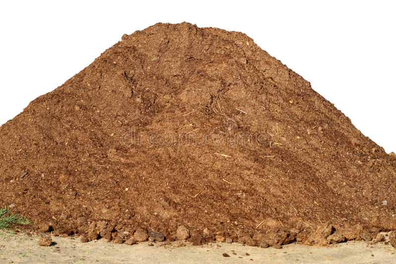 Heap of Dung. Isolated on a white background. Nature backgrounds stock photography