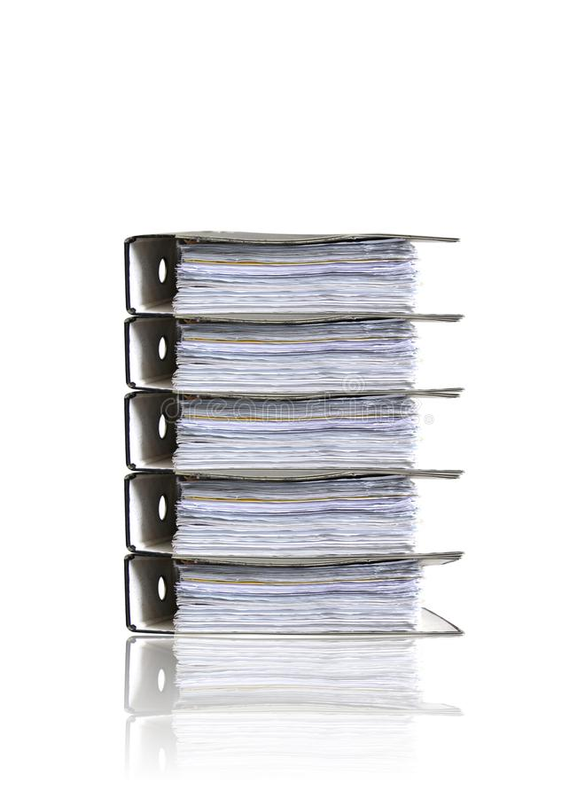 Heap of folders on white royalty free stock photo