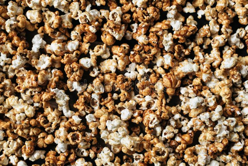 Heap of fresh popcorn as a background royalty free stock photos