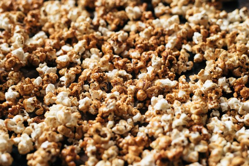 Heap of fresh popcorn as a background royalty free stock image