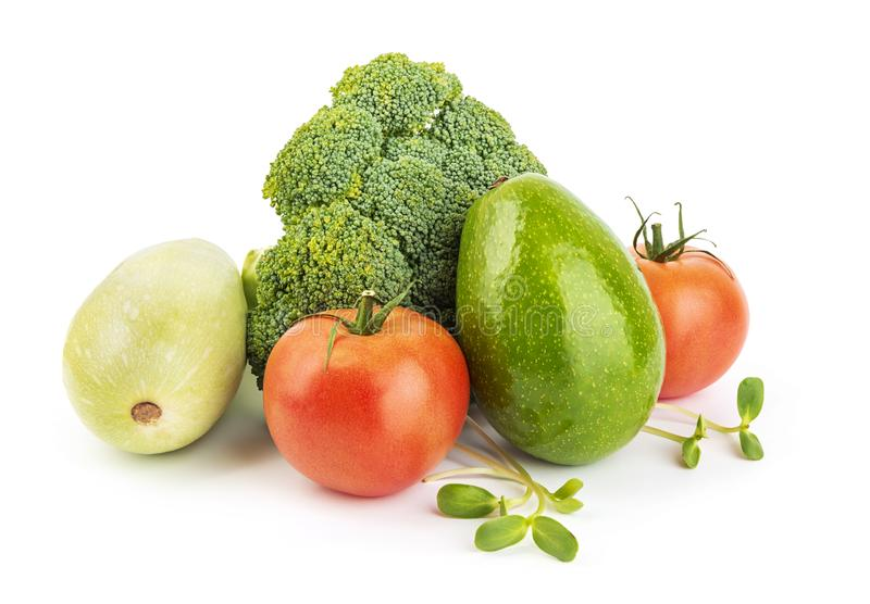 Heap of fresh vegetables stock photo