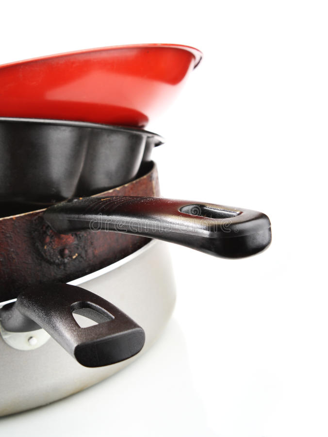 Download Heap of frying pans stock image. Image of high, food - 18002135
