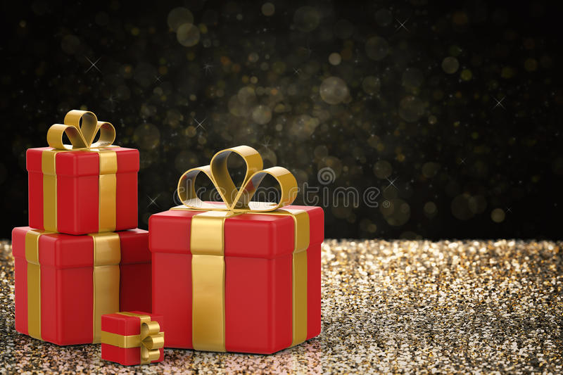 Heap of gift boxes. 3d rendering heap of gift boxes royalty free illustration