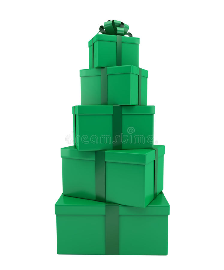 Download Heap Of Gifts Of Green Color Stock Illustration - Image: 22308415