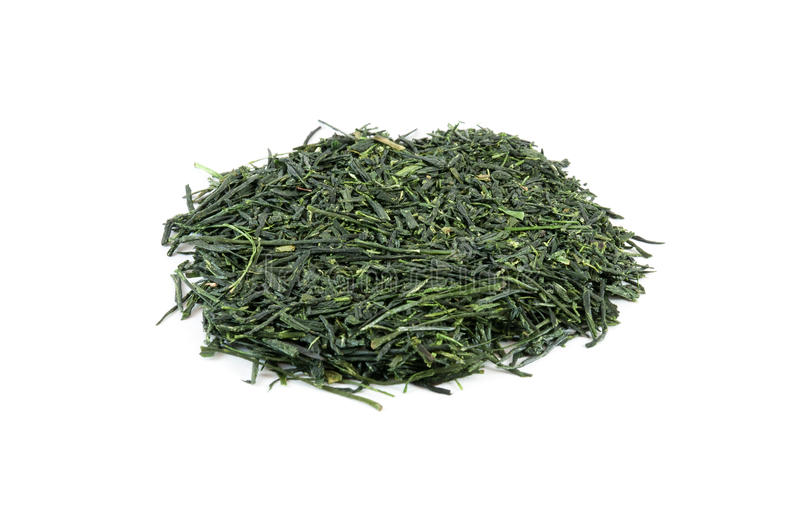 Heap of green tea royalty free stock image