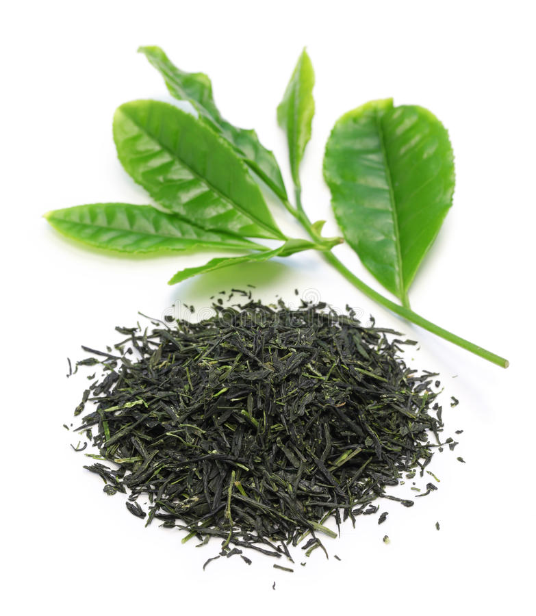 Download Heap Of Japanese Green Tea With Young Leaves Stock Image - Image of herbal, dieting: 53668707