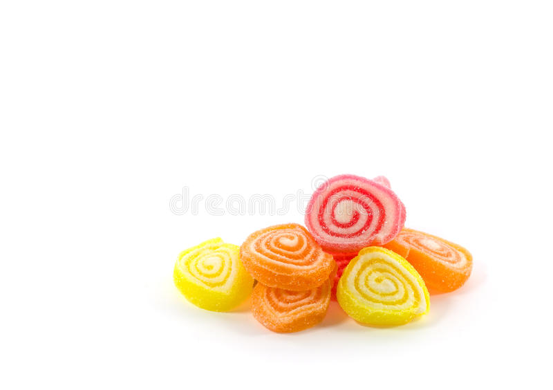 Heap of jelly sweet, flavor fruit, candy dessert colorful royalty free stock photography