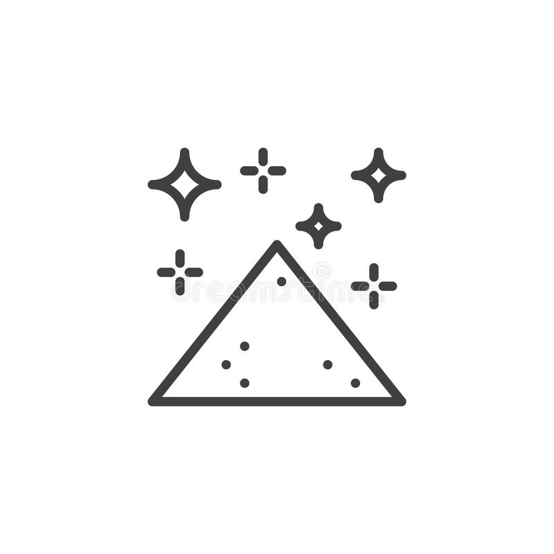 Heap of magic dust outline icon. Linear style sign for mobile concept and web design. simple line vector icon. Symbol, logo illustration. Pixel perfect vector stock illustration