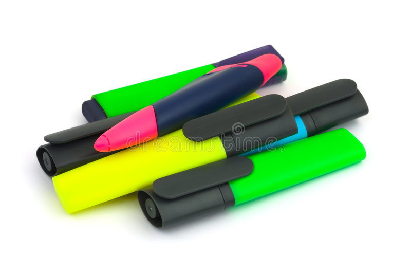 Heap of markers royalty free stock photo