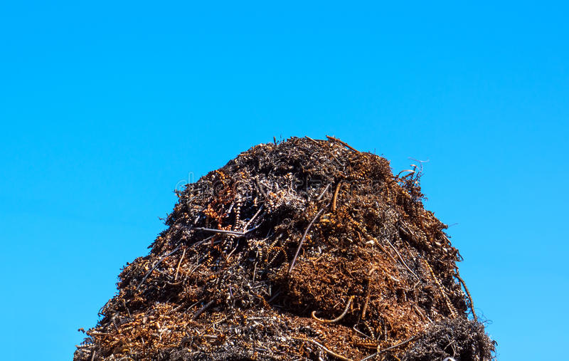 Heap of metal for recycling royalty free stock image