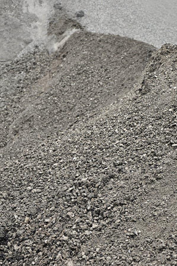 Heap of mixed gravel and asphalt