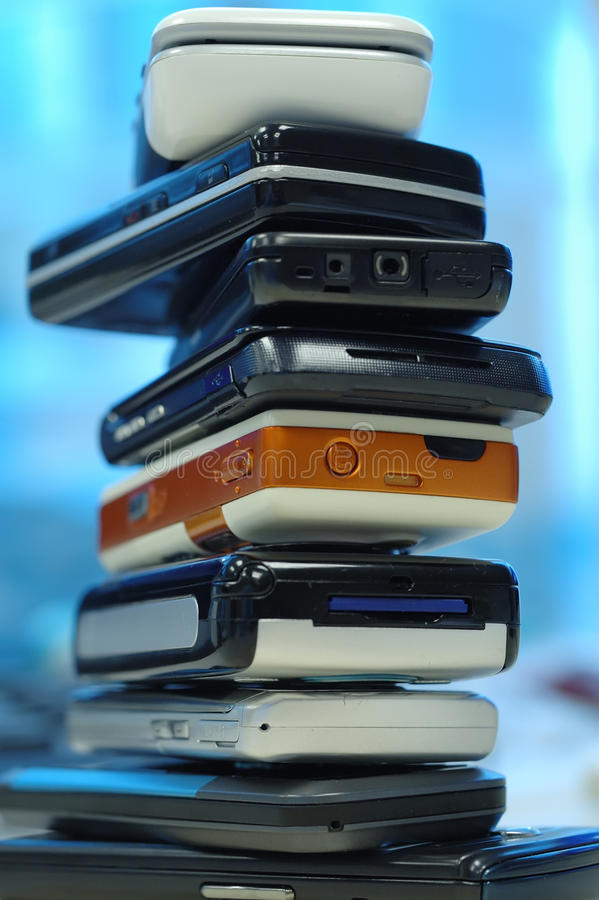 Download Heap of mobile phones stock image. Image of stack, pile - 11430903