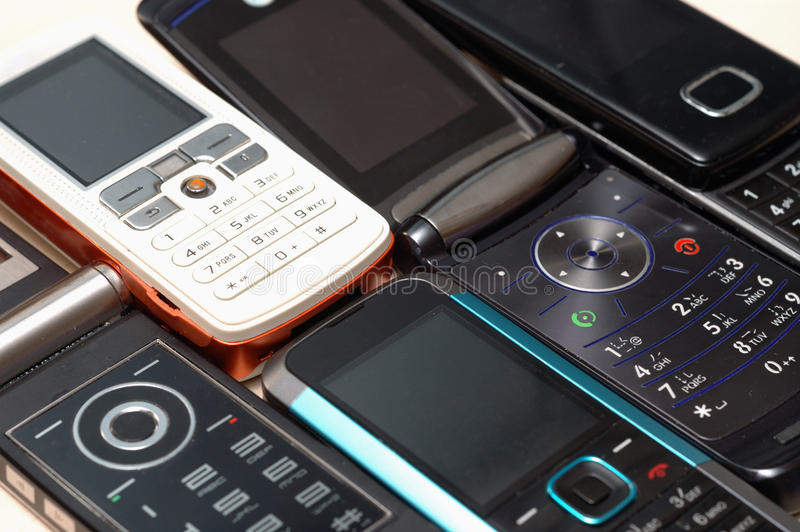 Heap Of Mobile Phones Royalty Free Stock Photography