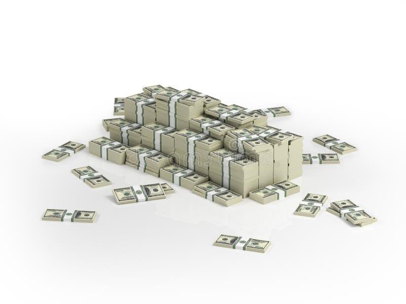 Heap Of Money Packs Royalty Free Stock Photos