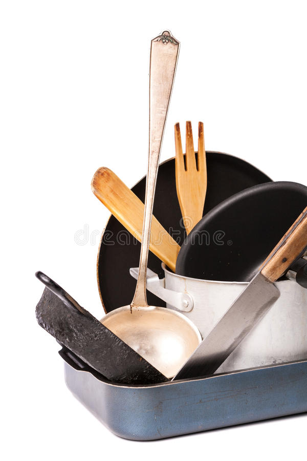 Free Heap Of Kitchen Bakeware With Pan And Pot Stock Photo - 29711880
