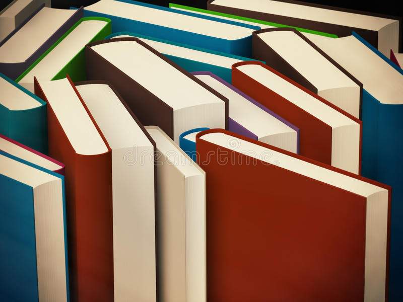 Heap of old books in a hard cover vector illustration