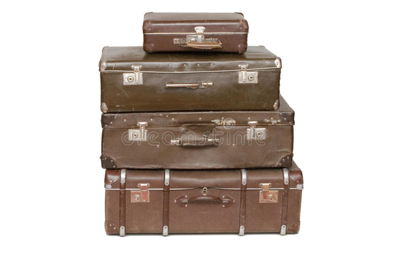 Download Heap of old suitcases stock image. Image of carry, load - 12200415