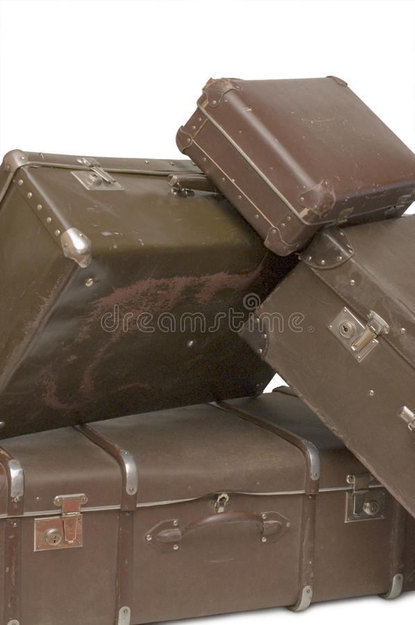Download Heap of old suitcases stock image. Image of bags, antique - 12483527