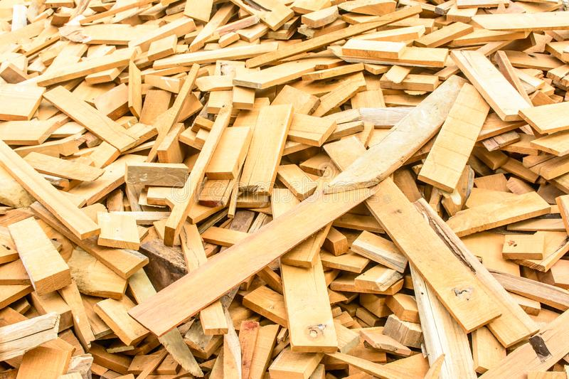 Heap of pieces of wood royalty free stock photography