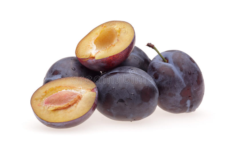Heap plums royalty free stock images
