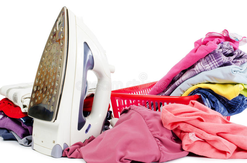 Download Heap Of Pure Clothes With Iron Stock Illustration - Image: 23990161