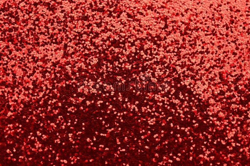 Heap of red glitters stock photography
