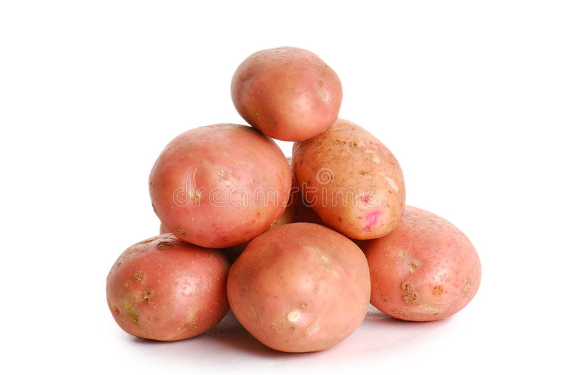 Heap of red potato stock photography