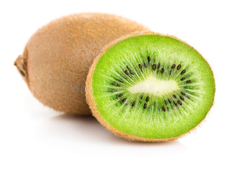 Kiwi slices isolated. Heap of ripe kiwi slices isolated on white background royalty free stock images