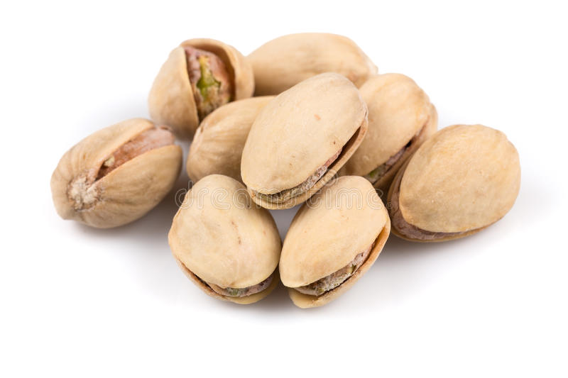 Heap of salted pistachio nuts royalty free stock photo