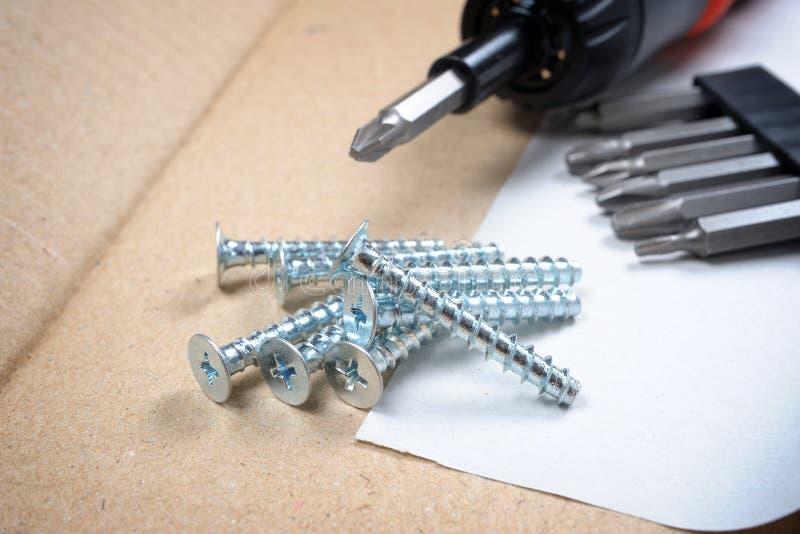Heap of screws stock images