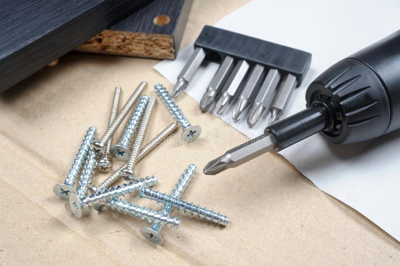 Heap of screws royalty free stock images