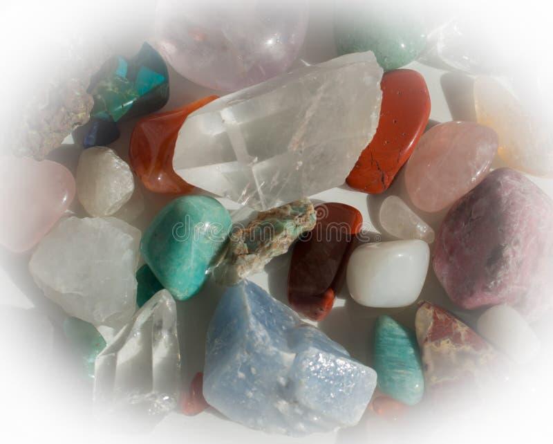 Heap of semi-precious stones royalty free stock photography
