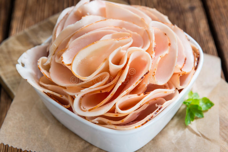 Heap of sliced Chicken Breast Fillet royalty free stock photography