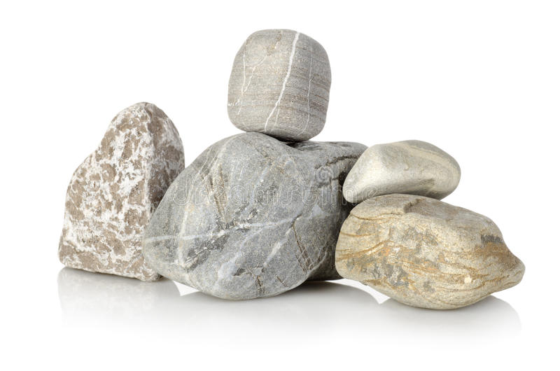 Heap a stones. Isolated on a white background royalty free stock photos