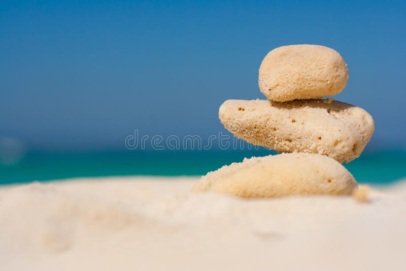 The Heap of stones stock image