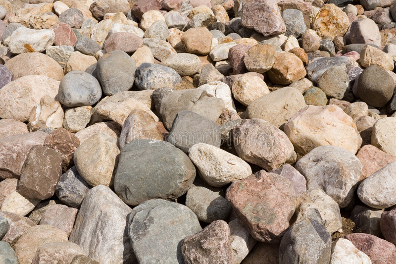 A heap of stones. stock photo