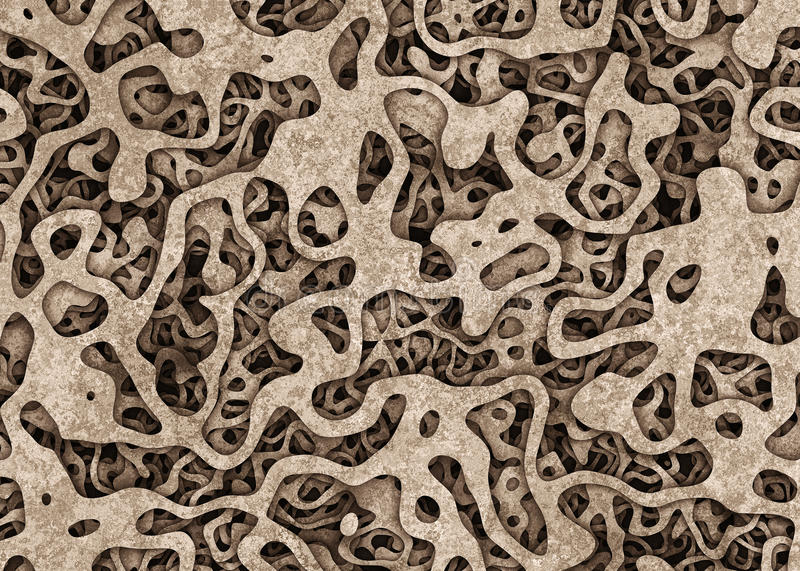 Heap of surreal curled cuttings object backgrounds. Abstract pattern royalty free illustration
