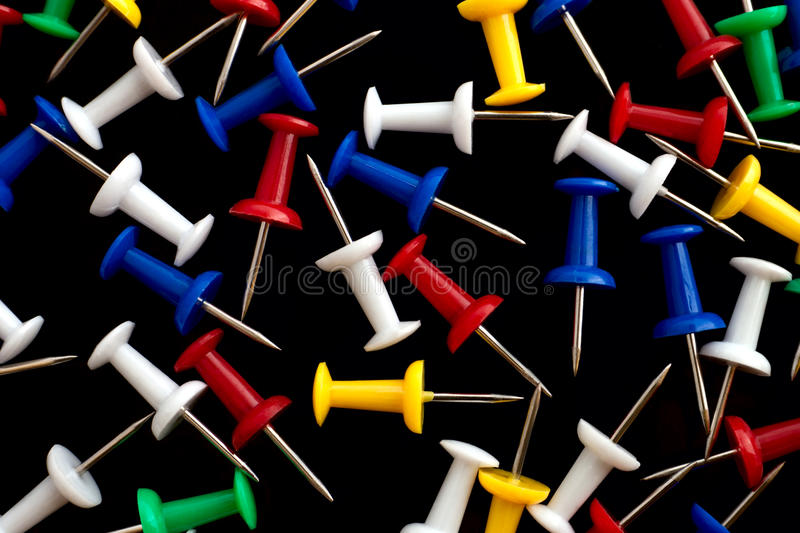 Download The Heap Of Variegated Push Pins Stock Photo - Image: 26018536