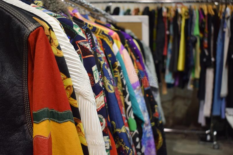 Heap of vintage clothes royalty free stock photos