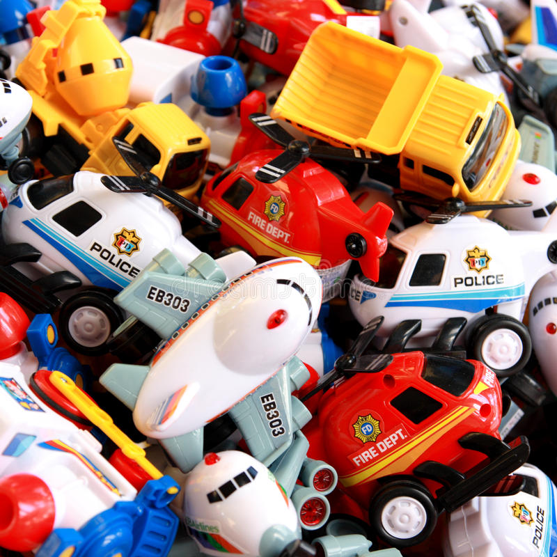 The heap of vividly colored toys. stock photography