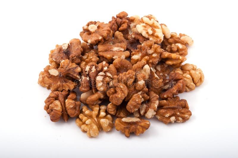 Heap of walnut royalty free stock photo