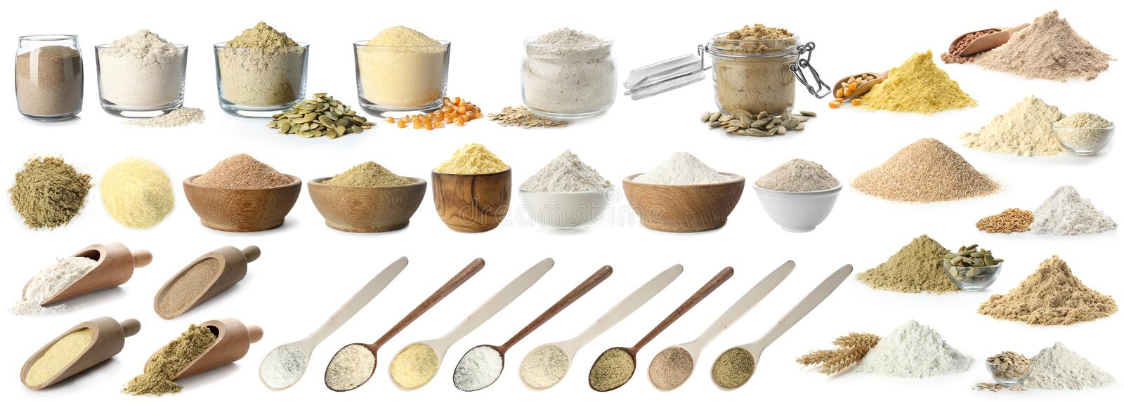 Heap of wheat flour royalty free stock image