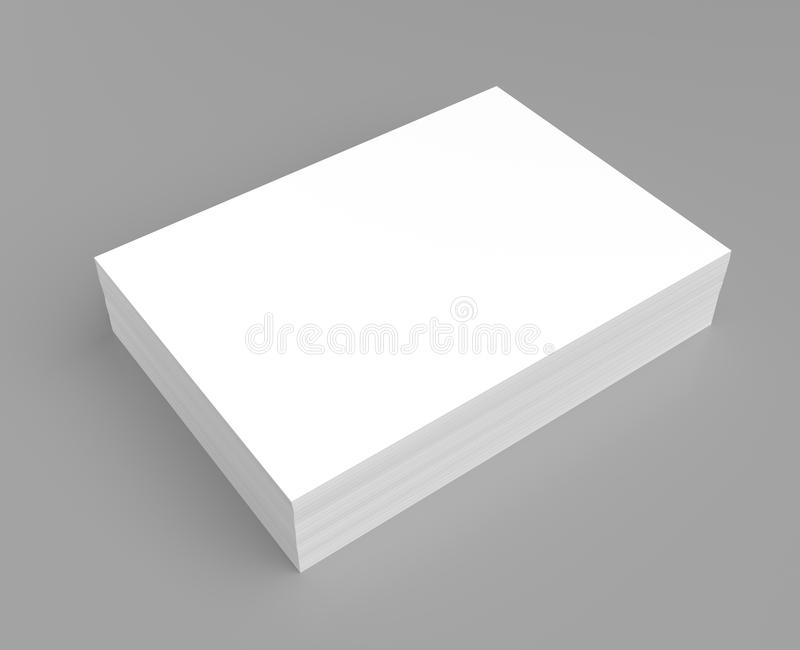 Heap of white paper royalty free illustration