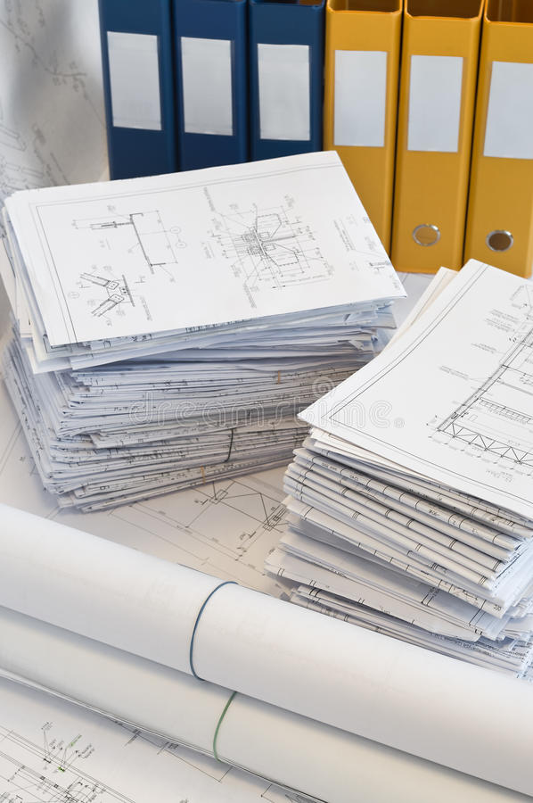 Download Heaps Of Design And Project Drawings Stock Photo - Image: 13002114