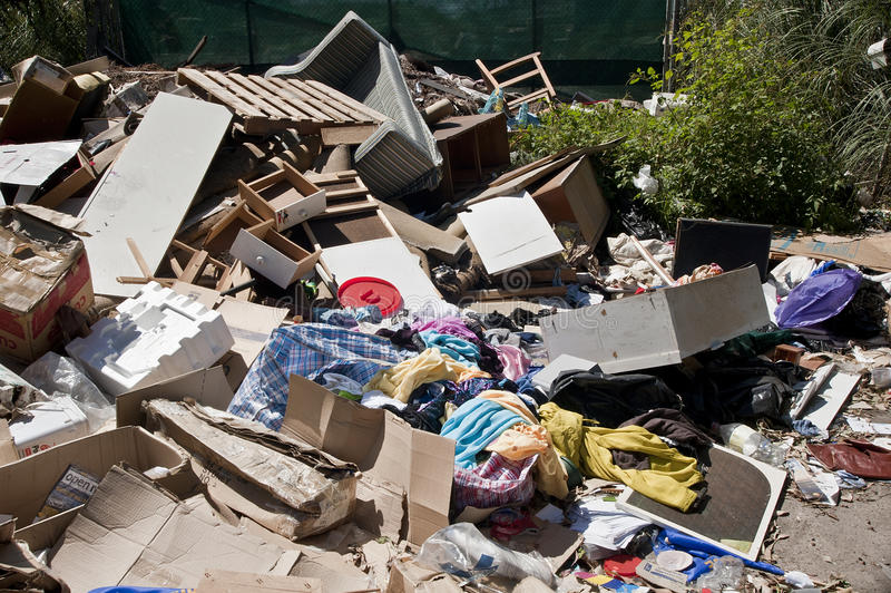 Download Heaps Household Rubbish Dumped Refuse Stock Image - Image: 18031675
