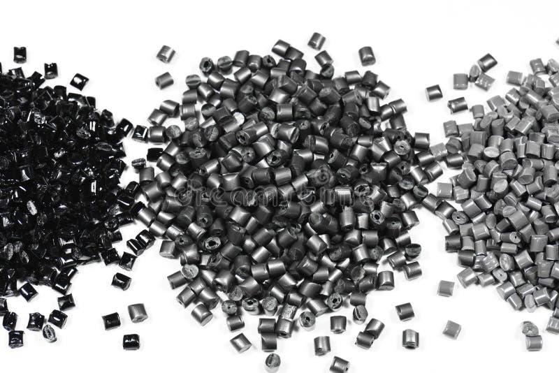 3 heaps of gray polymer royalty free stock photos