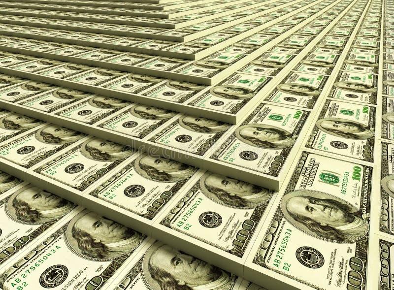 Heaps of money royalty free illustration