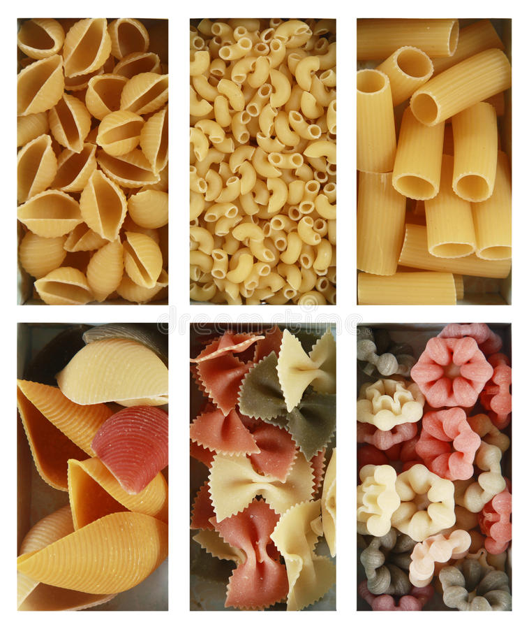 Heaps of pasta royalty free stock photos