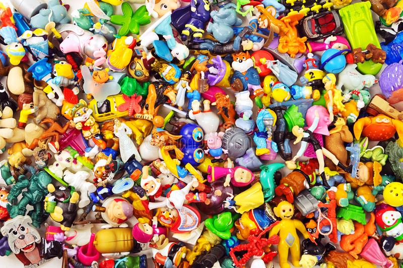 Heaps of the small toys stock images