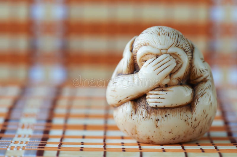 Hear no evil, see no evil, speak no evil stock photo